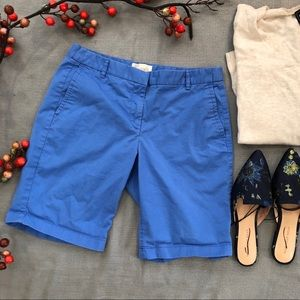 J.Crew blue Bermuda shorts
